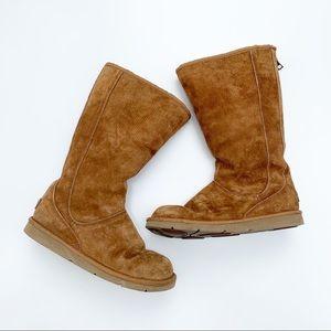 UGG   Chestnut Knightsbridge Zip Back Boots Size 7